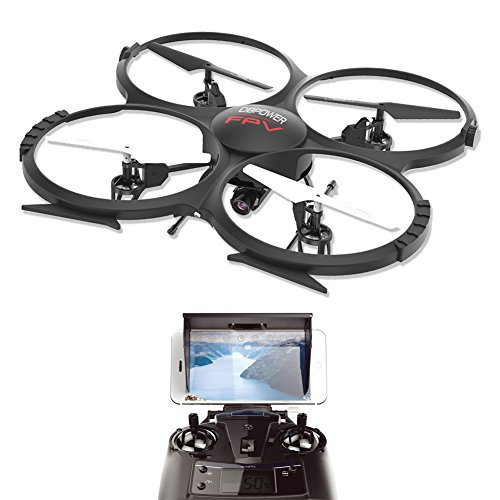 WIFI FPV Version U818A Drone with 720P HD Camera DBPOWER Headless Mode Quadcopter with 2 Batteries Long Flying Time Drone for Beginners