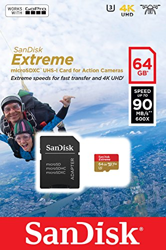 SanDisk Extreme 64GB microSDXC UHS-I Class 10 V30 Memory Car