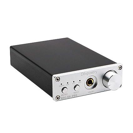 Dilvpoetry X6 Pro DAC HiFi Headphone Amplifier Decoder 24Bit/192kHz Coaxial /Optical/USB