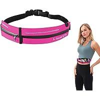Running Belt for Phone Holder Adjustable Waterproof Waist Pack for Women and Men with Headphone Cords Hole Flipbelt…