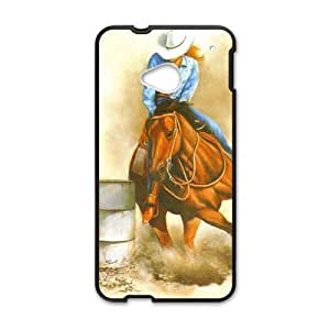 Canting_Good Barrel Racing Cowgirl Custom Case Shell Skin for HTC One M7(Laser Technology)