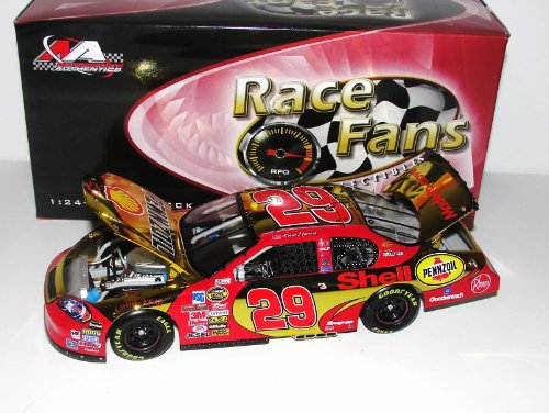 2007 Kevin Harvick #29 Shell Pennzoil Impala SS Car of Tomorrow COT Front Splitter Rear Wing Yellow Gold Color Chrome 1/24 Scale Diecast Hood, Trunk, Roof Flaps Open Motorsports Authentics (AKA Action Racing Collectables) For Race Fans Only Edition Limited Production Only 1500 Made Individually Serialized With Certificate of Authenticity COA (Kevin Harvick Shell Racing)