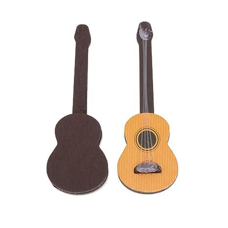 Healifty 2 piezas miniatura guitarra estatuilla miniatura casa de ...