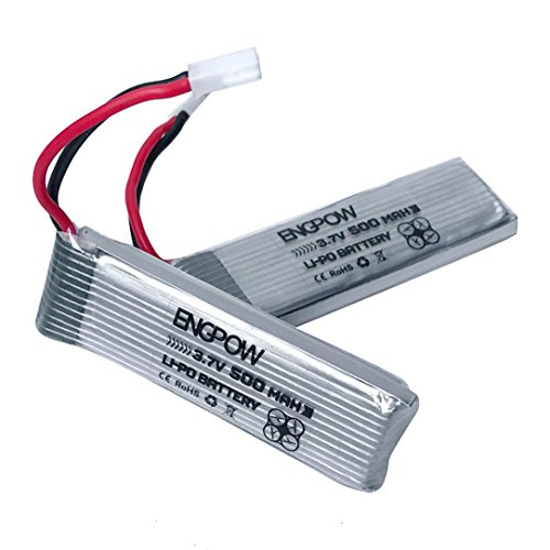 GOTD 2pack 3.7V 500mAh Li-Polymer Battery For JJRC H37 RC Quadcopter
