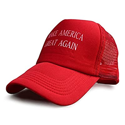 Donald Trump Hats Caps - MAKE AMERICA GREAT AGAIN - Vote TRUMP 2016 (Red Trucker)