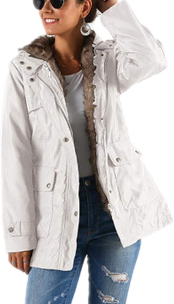 Abrigo Largo de Invierno con Forro Desmontable de algodón Grueso y cálido para Mujer
