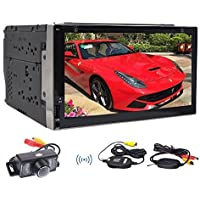 Wireless Camera include Quad-core Stereo Autoradio Double din Android 6.0 Marshmallow Car DVD Player Autoradio Bluetooth GPS Navigation Headunit support Dual-Camera Wifi/OBD/Mirror Link