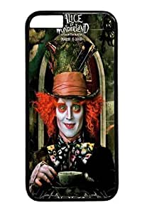 Alice in Wonderland Mad Hatter 2 Custom iPhone 6 Plus 5.5 inch Case Cover Polycarbonate Black