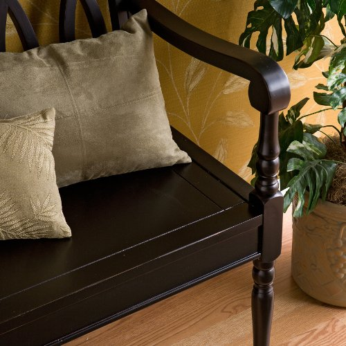 Southern Enterprises Granbury Bench, Antique Black Finish