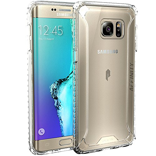 Galaxy S6 Edge Plus Case, POETIC Affinity Series [Premium Thin]/No Bulk/Protection Where its Needed/Clear/Dual Material Protective Bumper Case for Samsung Galaxy S6 Edge Plus (Frosted Clear/Clear)