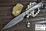 Perkin Beautiful Custom Handmade All Damascus Hunting Knife – Beautiful Camping Knife with Sheath Review
