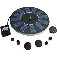 Kecheer Bomba de agua solar,Fuente solar bomba flotante para piscina jardin estanque,con con 5 cabezales