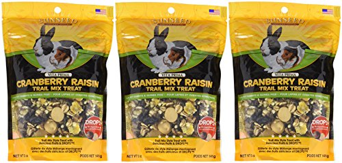 - (3 Pack) SUNSEED COMPANY 36031 Cranberry Raisin Vita Prima Trail Treat for Rabbits and Guinea Pigs (5 oz. Per Pack)