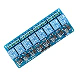 J-Deal 8-channel 5V Relay Module Shield with Optocoupler for Arduino UNO 2560 1280 DSP ARM PIC AVR STM32 Raspberry Pi