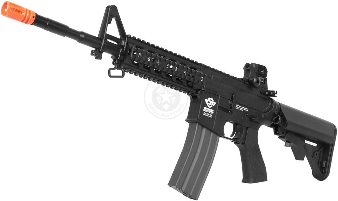 Amazon Com G G Airsoft Combat Machine M4 Raider High Performance Full Metal Gearbox Aeg Rifle W Integrated Ras And Crane Stock Airsoft Gun Airsoft Rifles Electric Full Metal Sports Outdoors