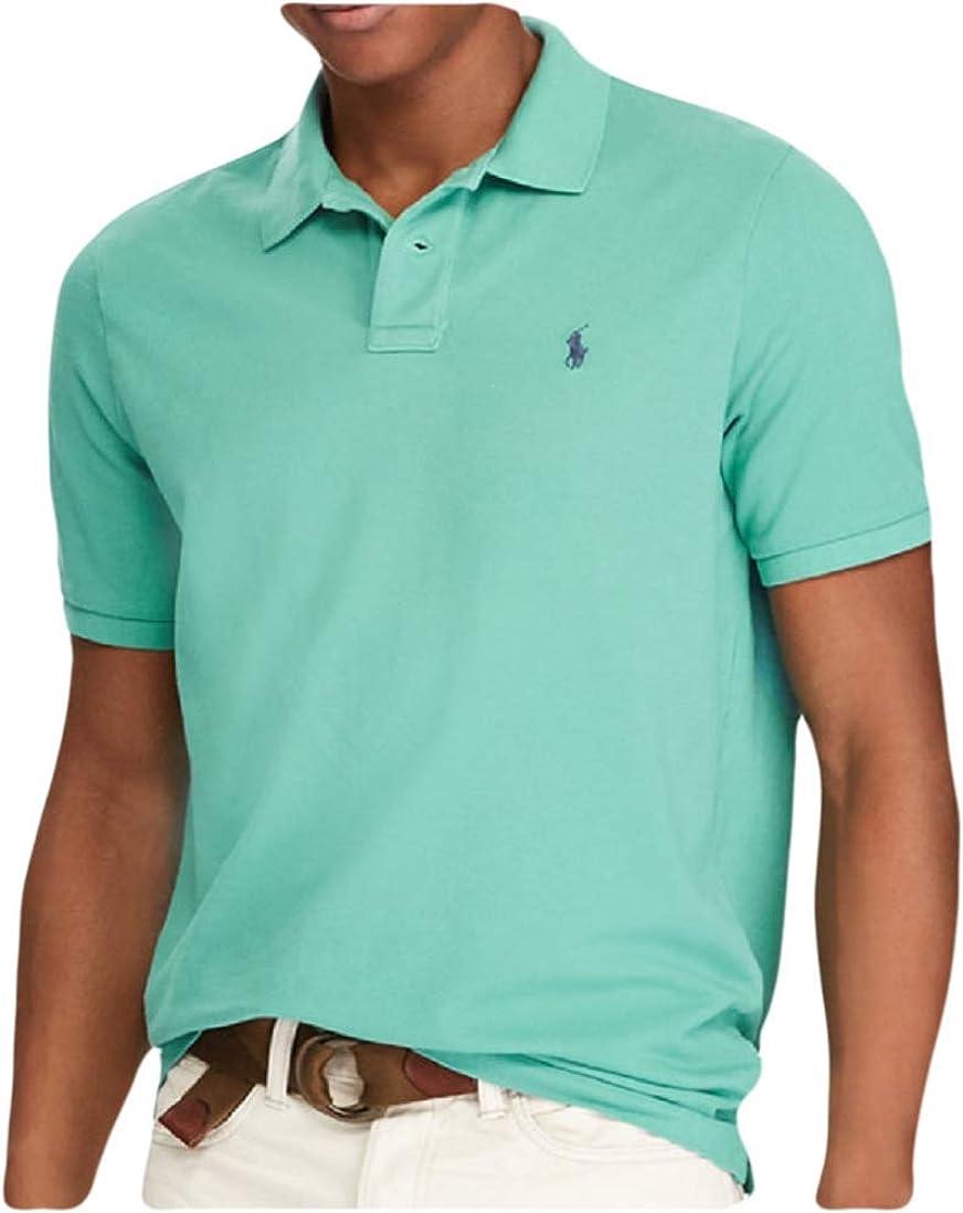 RALPH LAUREN Polo Mens Classic Fit Cotton Mesh Short Sleeve Polo Shirt