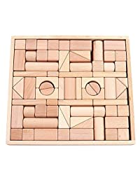 Wooden Blocks - iPlay, iLearn wood block set Natural Wooden Stacking Cubes Blocks 72 PCS BOBEBE Online Baby Store From New York to Miami and Los Angeles