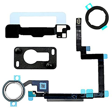 BisLinks® White & Silver Home Button Flex Cable Holder Camera Bracket for iPad Mini 3 (Ipad 3 Home Button Cable)