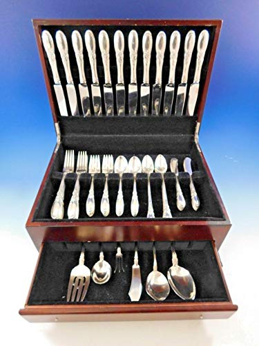 (Old Mirror by Towle Sterling Silver Flatware Set for 12 Dinner Service 78 Pieces )