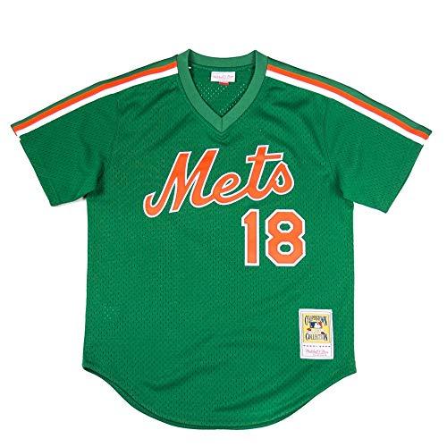 (Mitchell & Ness Darryl Strawberry 1988 New York Mets Authentic Mesh BP Jersey)