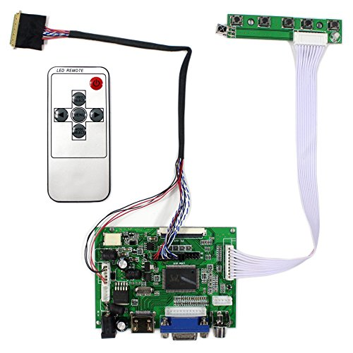 (VSDISPLAY HDMI+VGA+2AV LCD Controller Board Work for 14