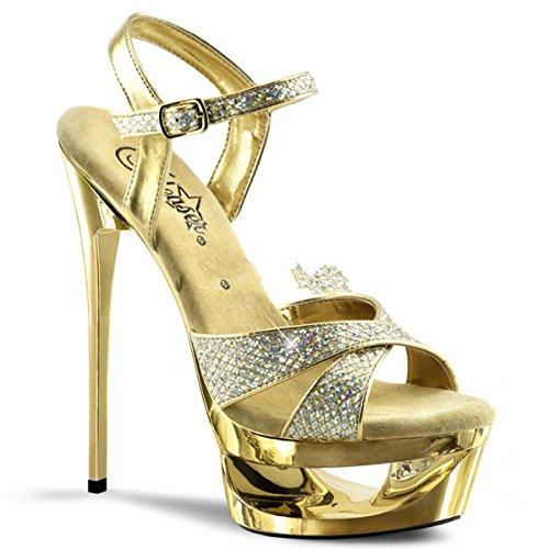 Pleaser Eclipse-619G - sexy plataforma zapatos de tacón alto mujer sandalias - tamaño 35-42