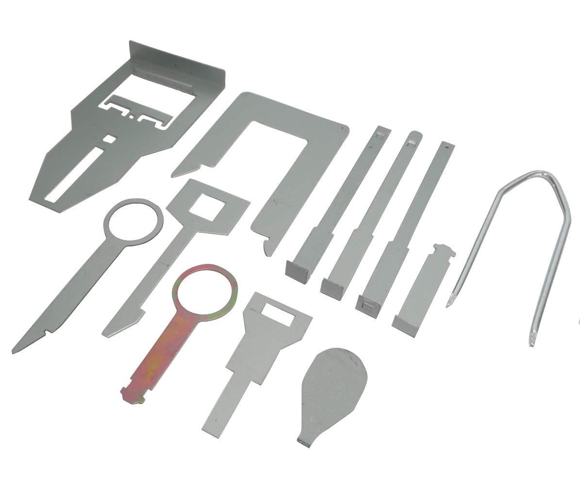 AERZETIX: Assortimento chiavi estrazione di smontare autoradio. Set di 12 paia C40684 C40684 / AN414