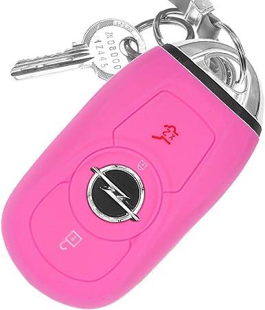 Auto Schlüssel Hülle Silikon Schutz Cover Rosa Elektronik