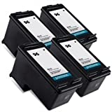 Printronic Remanufactured Ink Cartridge Replacement for HP 96 C8767WN (4 Black)