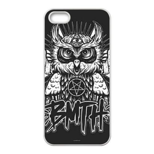 Bring Me The Horizon Logo K4T57O0NX coque iPhone 5 5s case coque white 61MD21