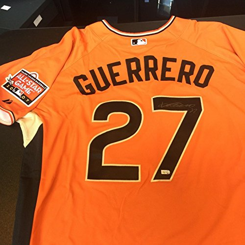 2007 Mlb All Stars - Vladimir Guerrero Signed Authentic 2007 All Star Game Home Run Derby Jersey MLB