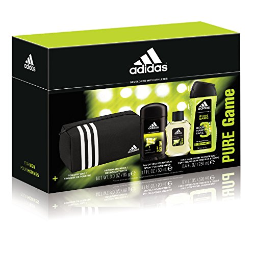 Adidas Personal Care Pure Game Doppler Kit Personal Care 3 Piece Gift Set (Adidas Gift Set Body Wash)