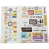 BESTIM INCUK 6 Sheets Decorative Scrapbooking Craft Sticker Diary Album Sticker Adhesive