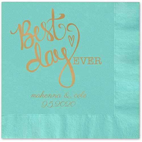 Heart Personalized Beverage Cocktail Napkins product image