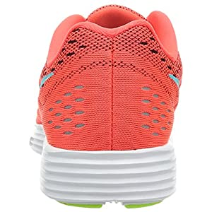Nike Womens Lunartempo Womens Bright Crimson/Light Aqua-Volt-White Ankle-High Running Shoe - 7M