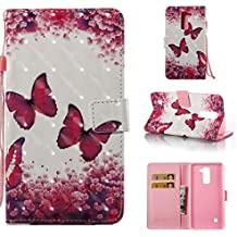 Lg Stylo 2 Case, PU Leather Wallet Case Durable Magnetic Case Cover Credit Card Holder Protective Book Case Xmas Halloween Birthday Gift for Lg Stylo 2/Lg Stylus 2/Ls775