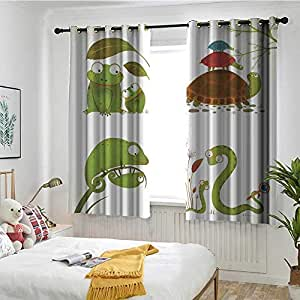 Amazon Com Reptiles Grommet Curtains Reptile Family With
