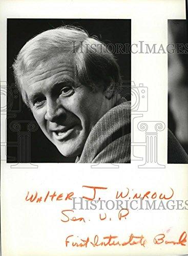 1982 Press Photo Walter J Winrow Senior Vp First Interstate Bank   Spa29945