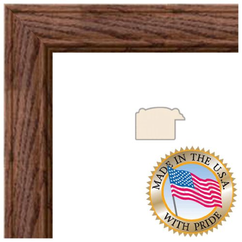 13x19 Honey Stain on Solid Red Oak Picture Frame - 1.25'' wide with Regular Glass and Foam Backing