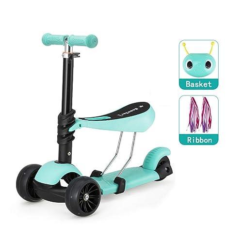 SSLHDDL Scooter para NiñOs De 1 A 3 AñOs. Rana Tipo Scooter para ...