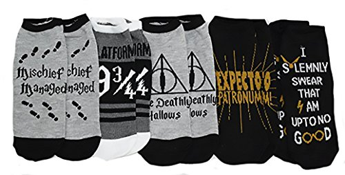 Harry Potter Deathly Hallows 5 Pack Ankle Socks (Harry Potter Shop)