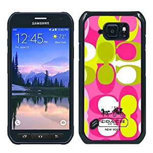 Hot Sale Samsung Galaxy S6 Active Case ,Unique And Durable Designed Case With Coach 7 black Samsung Galaxy S6 Active Cover Phone Case