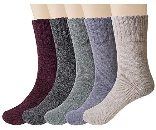 保暖从脚开始,女士羊毛袜5双