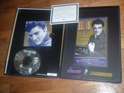 Prints Booklet - Elvis in Hollywood, the 50's, Special Limited Edition 65-minute VHS and bonus CD and 16-page colour booklet, 4 limited prints PHOTOS and PIN