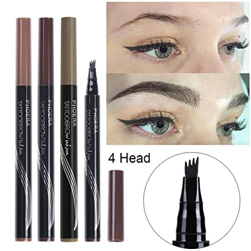 Microblading Fine Sketch Liquid Henna Eyebrow Tattoo Pen Waterproof