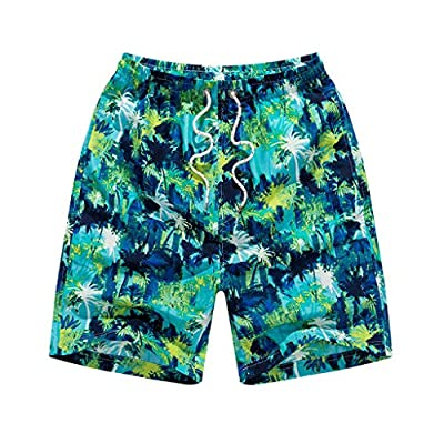 NUWFOR Men's Summer Casual Fashion Quick-Drying Printing Loose Beach Sports Shorts Pant