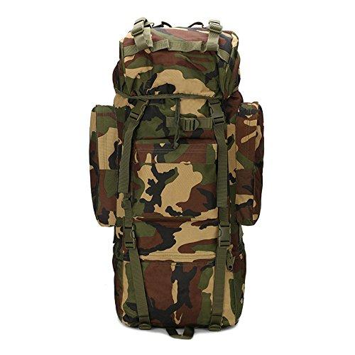 YAzNdom Armee-Fan-Tasche, Outdoor-Bergsteigenbeutel Armee-Fan ausgestattet Camping Rucksack Sport Rucksack Rucksack