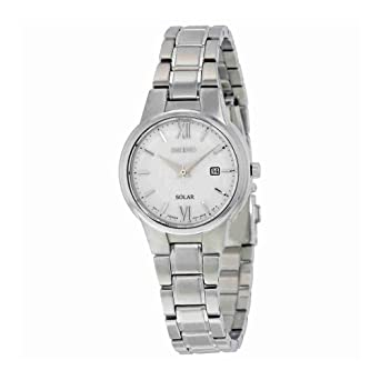 df437ff1fd2 Image Unavailable. Image not available for. Color  Seiko Conceptual Solar  White Dial Ladies Watch SUT227