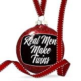 Christmas Decoration Classic design Real Men Make Twins Ornament