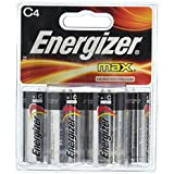Energizer Max Alkaline Batteries, C-4ct (Quantity of 4)